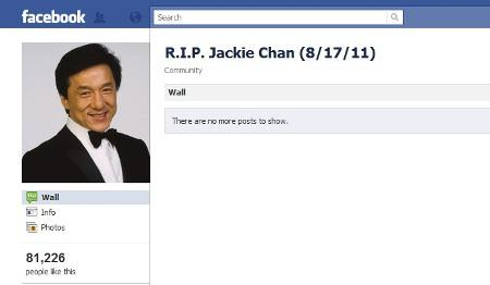 Jackie Chan dead? Twitter hoax claims