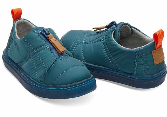 Tiny Toms Lenny Quilted Sneakers in Stellar Blue