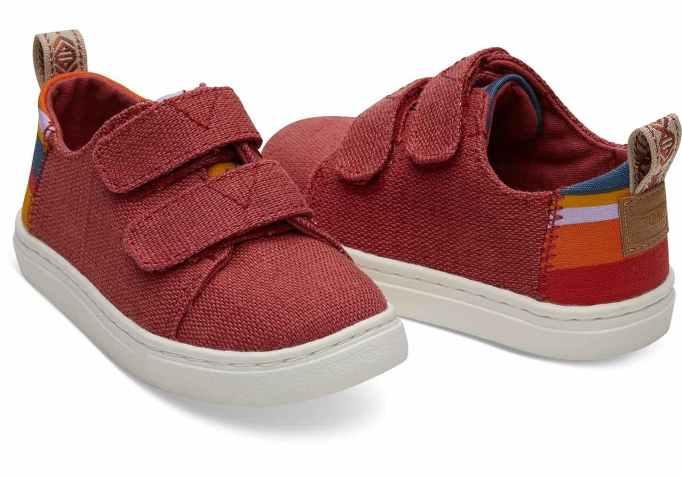 Tiny Toms LennyTiny Toms Lenny Heritage Canvas Sneakers in Apple RedHeritage Sneakers in Apple Red