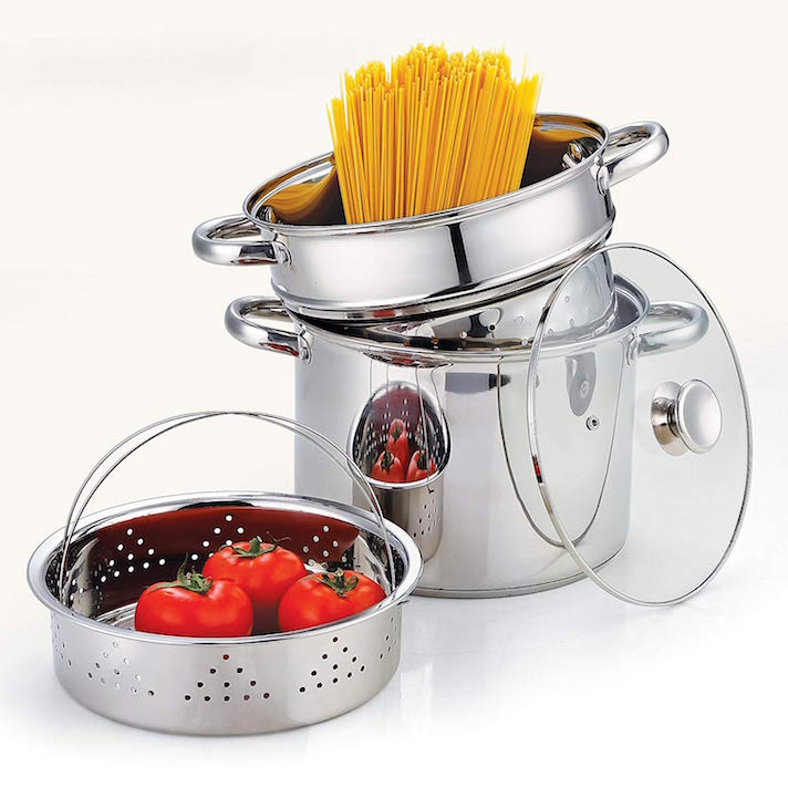 The 13 Kitchen Gadgets That Will Actually Make You a Better Cook: Pasta Pot and Steamer
