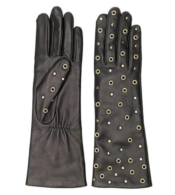 Agnelle Eyelet Embellished Gloves