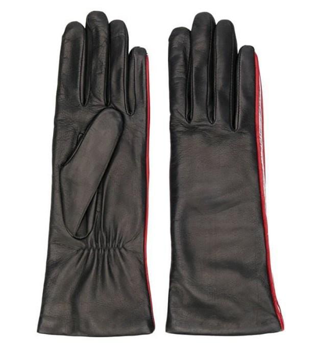 Agnelle Striped Detail Gloves