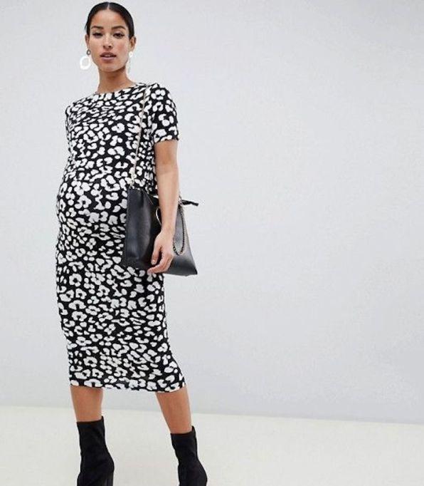 Animal-Print Body-Con Dress
