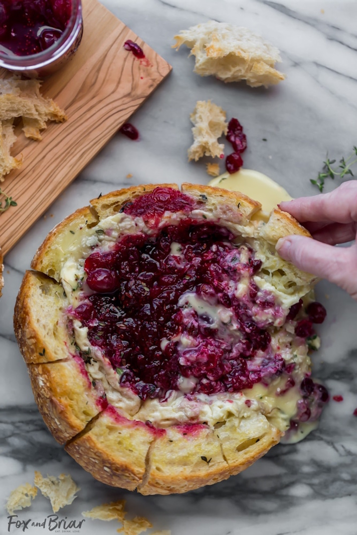 12 Easy Recipes You Can Serve In a Bread Bowl: Baked Cranberry Brie Bread Bowl