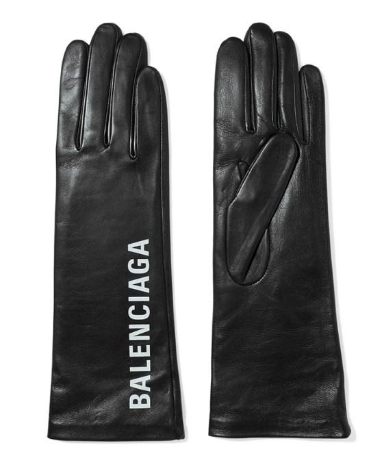Balenciaga Printed Leather Gloves