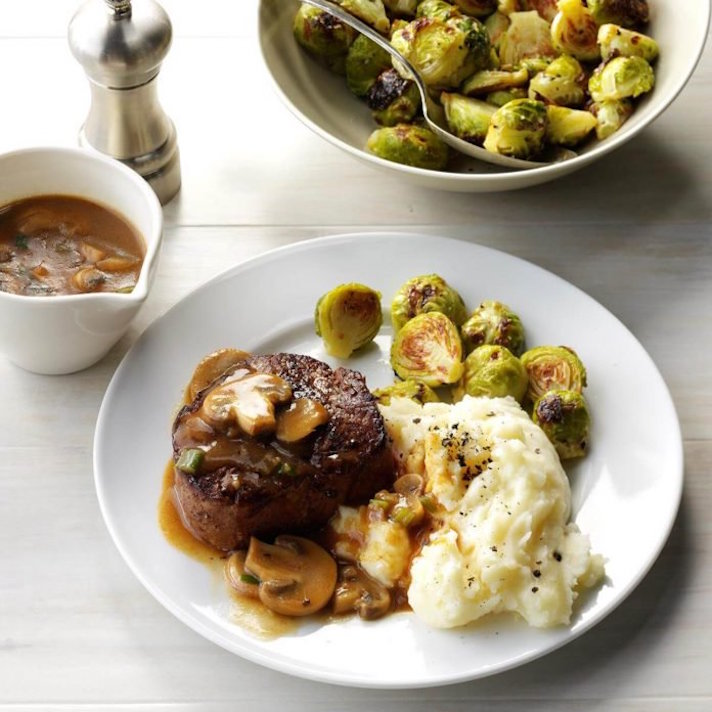 11 Date Night Dinner Recipes Anyone Can Make: Beef Tenderloin in Mushroom Sauce