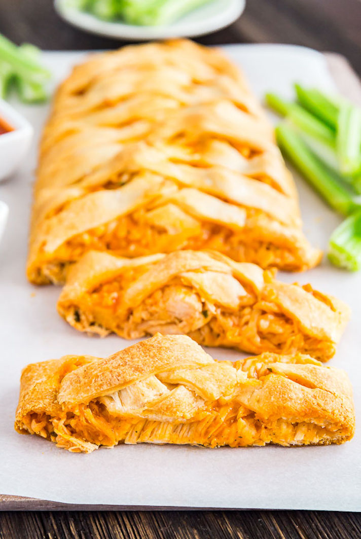 11 Easy Buffalo Chicken Recipes for Your Super Bowl Party: Buffalo Chicken Braid