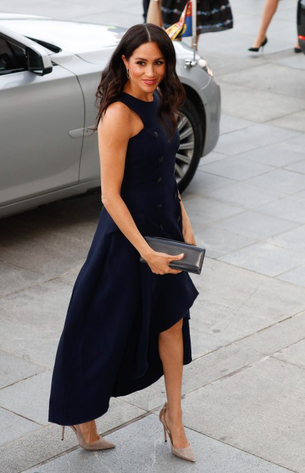 Meghan Markle arrives at the Auckland War Memorial Museum in New Zealand