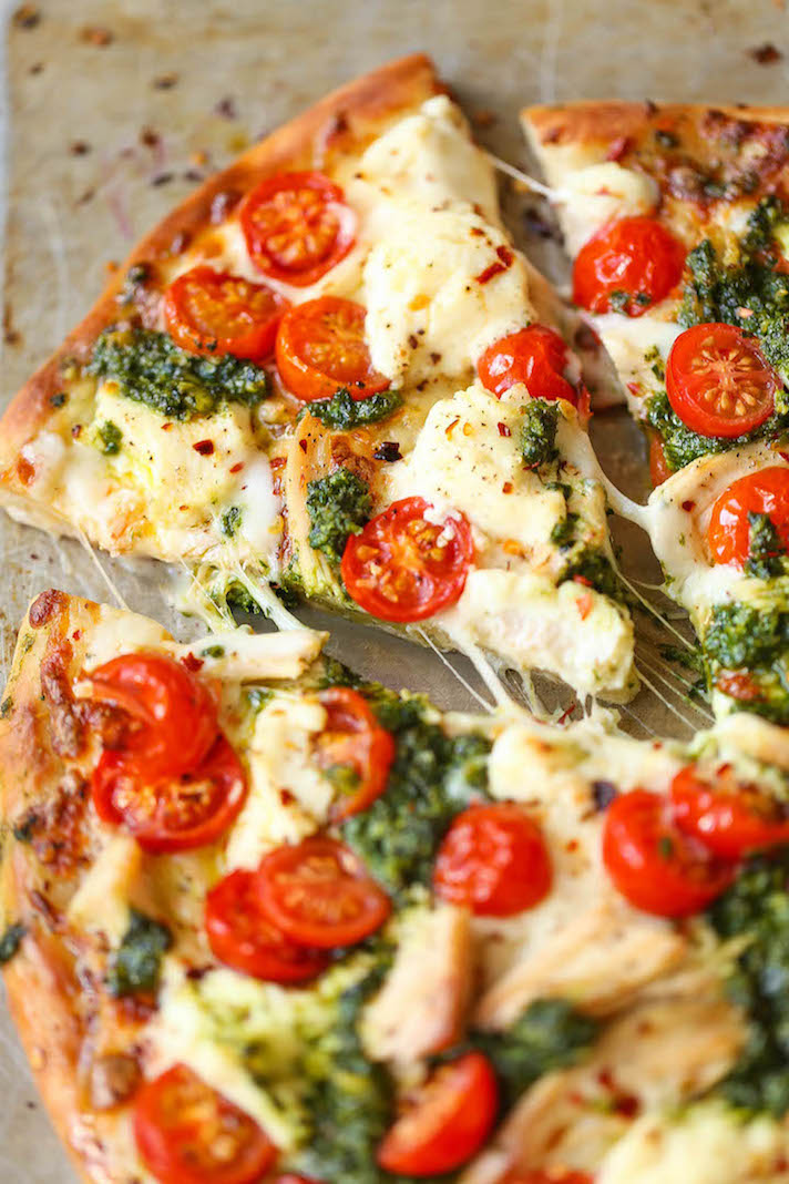 13 Easy Pizza Recipes That Make Great Dinners: Chicken Pesto Pizza