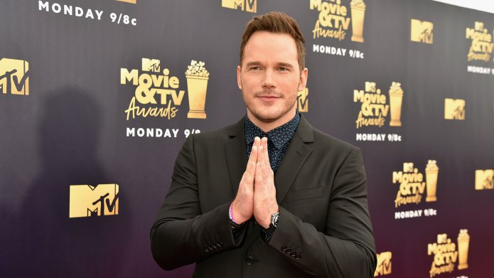 Chris Pratt with his hands folded