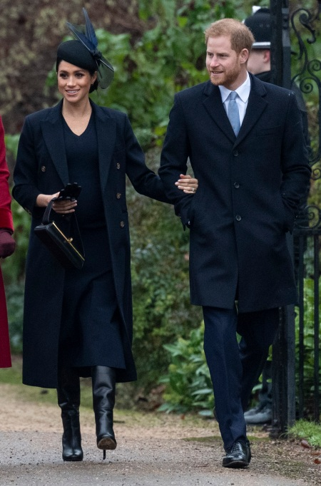 Meghan Markle and Prince Harry on Christmas Day
