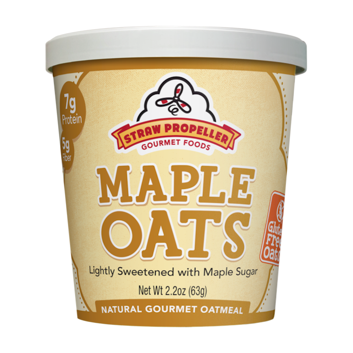 10 Instant Oatmeals That Aren't Packed With Sugar (& Your Kids Will Actually Eat): Straw Propeller Maple Oats
