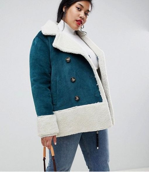 Current Air Fleece-Lined Faux Suede Coat
