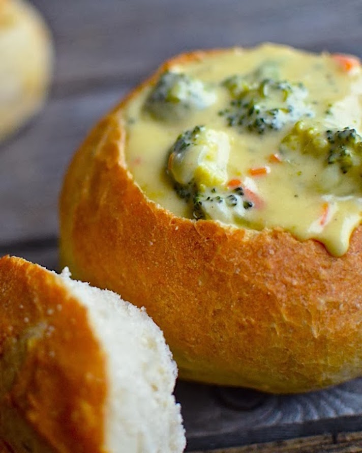 12 Easy Recipes You Can Serve In a Bread Bowl: Panera Broccoli Cheddar Copycat Soup Recipe