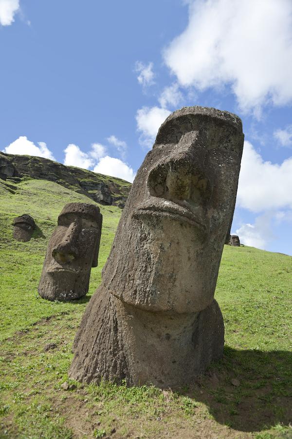 Moai named Hinariru at Rano Raraku Easter Island Chile