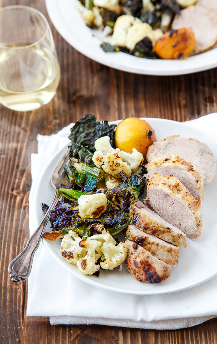 11 Date Night Dinner Recipes Anyone Can Make: Honey-Mustard Pork Tenderloin With Crispy Kale and Cauliflower