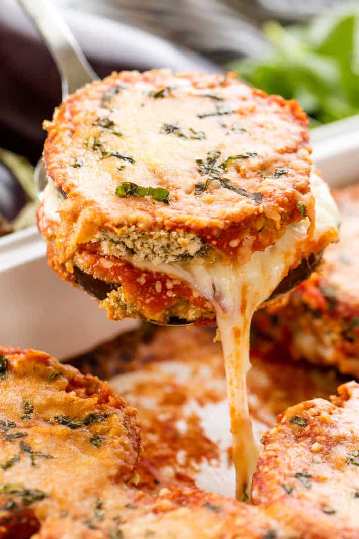 15 Easy Meatless Dinners With Plenty of Protein: Baked Eggplant Parm