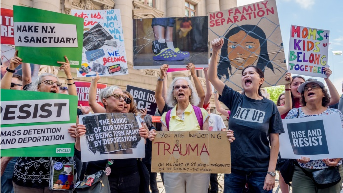 Protesters Rally Against Family Separation in