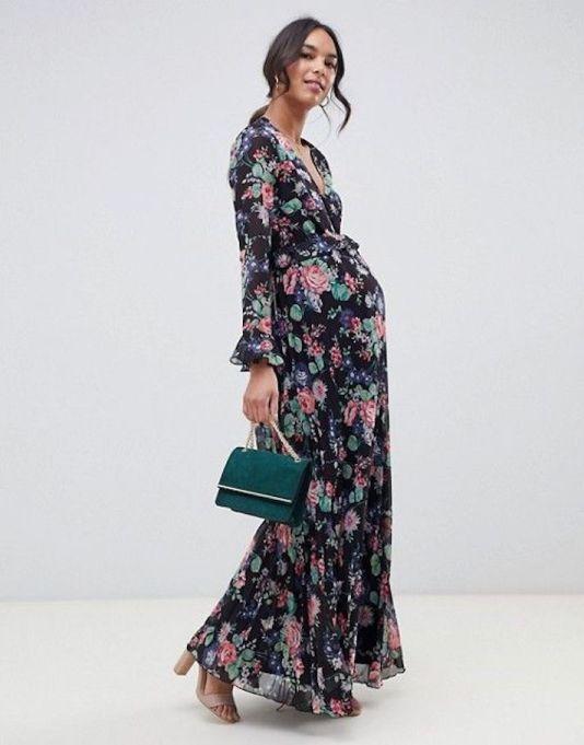 Floral Wrap Maxi-Dress