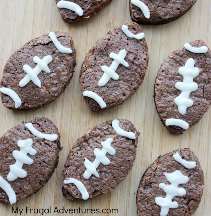14 Super Bowl Snack Ideas That Are Better Than Actual Football: Football Brownies