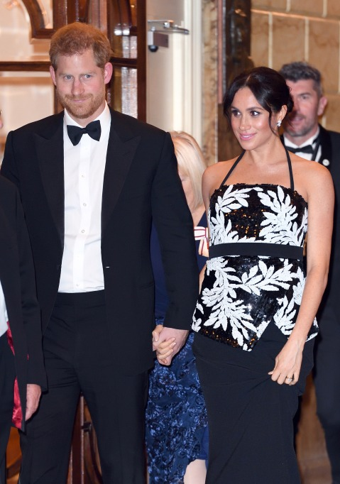 Meghan Markle and Prince Harry at the Royal Variety Performance 2018