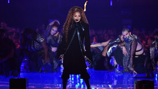 Janet Jackson performs on stage during the MTV EMAs 2018 at Bilbao Exhibition Centre