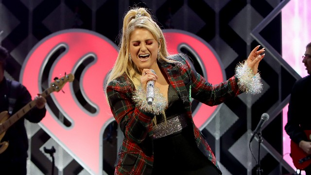Meghan Trainor performs onstage Hot 99.5's Jingle Ball 2018 at Captial One Arena