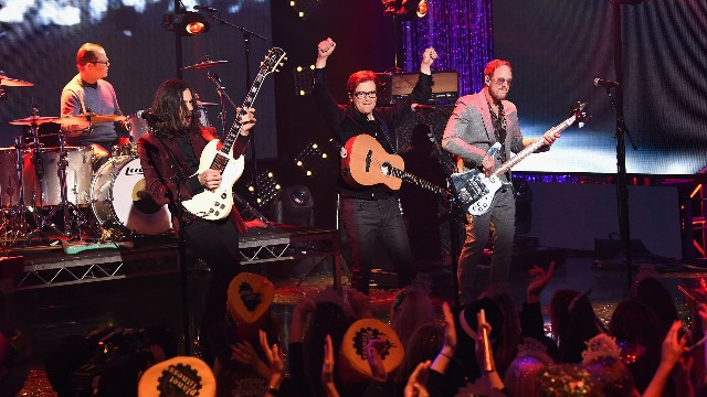 Weezer perform onstage during Dick Clark's New Year's Rockin' Eve With Ryan Seacrest 2019