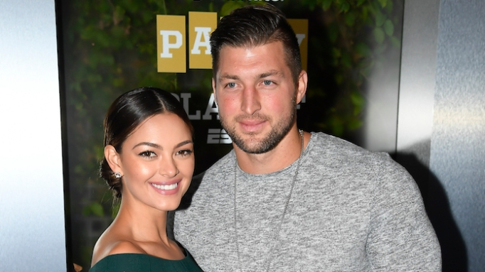photo of Tim Tebow & Demi-Leigh Nel-Peters