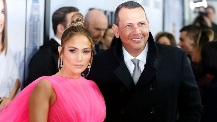 Jennifer Lopez and Alex Rodriguez attend