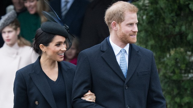 Meghan, Duchess of Sussex and Prince Harry, Duke of Sussex attend Christmas Day Church service at Church of St Mary Magdalene on the Sandringham estate