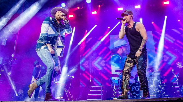 Florida Georgia Line perform during the 2019 Allstate fan fest, part of Dick Clark's New Year's Rockin' Eve with Ryan Seacrest 2019