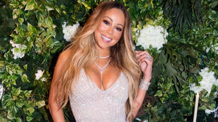Mariah Carey Celebrates With Kids After