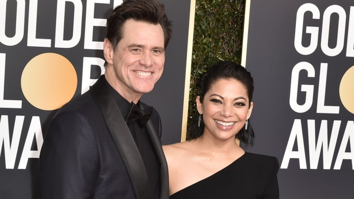 Jim Carrey and Ginger Gonzaga attend