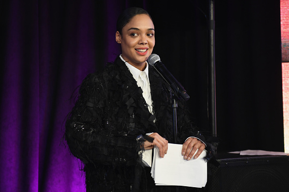 Tessa Thompson speaks onstage at the Sundance Institute Art + Inclusion during 2019 Sundance Film Festival at Kimball Art Center on January 25, 2019 in Park City, Utah.
