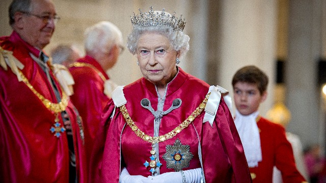 Queen Elizabeth II attends a service for the Order of the British Empire at St Paul's Cathedral