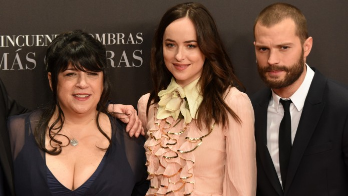 E. L. James, Dakota Johnson and