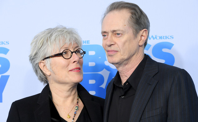 "photo of Steve Buscemi and wife Jo Andres at ""The Boss Baby"" premiere"