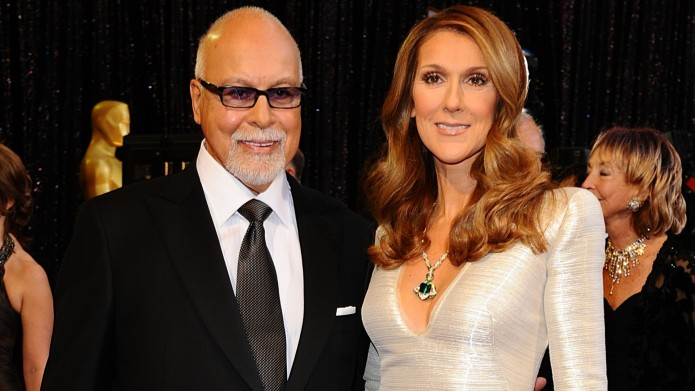 Rene Angelil and Celine Dion arriving