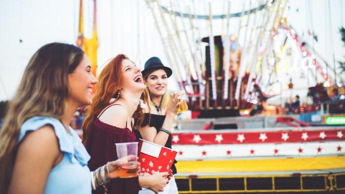 photo of girls at carnival
