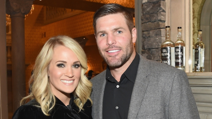 photo of Carrie Underwood and Mike Fisher in Brentwood, Tennessee
