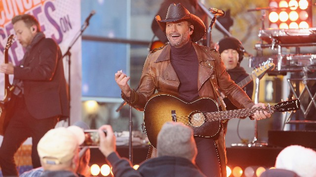 Tim McGraw performs on NBC's 'Today' Show at Rockefeller Plaza