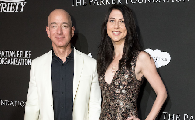 photo of Jeff & MacKenzie Bezos