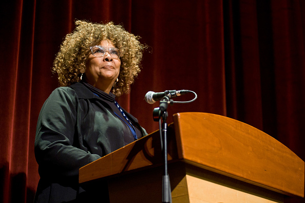 Director Julie Dash attends the Roger Ebert Film Festival on day four at the Virginia Theatre on April 21, 2018, in Champaign, Illinois.
