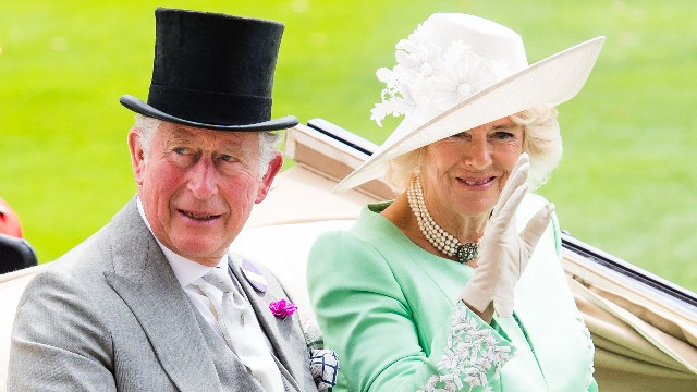 Prince Charles, Prince of Wales and Camilla, Duchess of Cornwall arrive by carriage during Royal Ascot Day 2