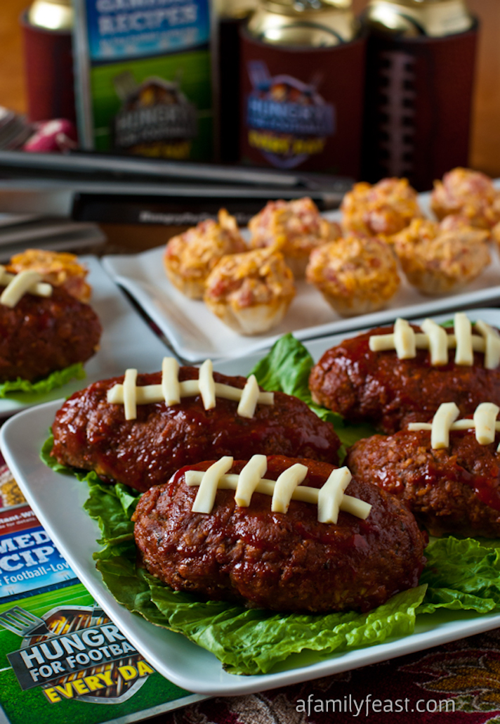 14 Super Bowl Snack Ideas That Are Better Than Actual Football: Touchdown Mini Meatloaf