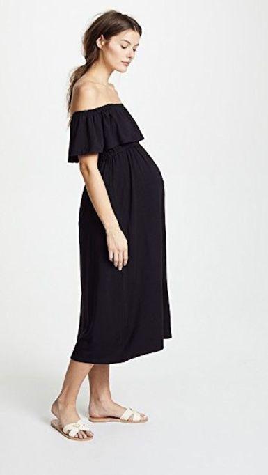 Ingrid Isabel Off Shoulder Midi Dress