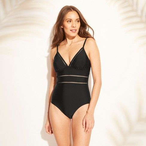 Kona Sol Women's Ladder-Trim One-Piece Swimsuit