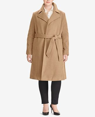 Lauren Ralph Lauren Wool-Cashmere Blend Wrap Coat
