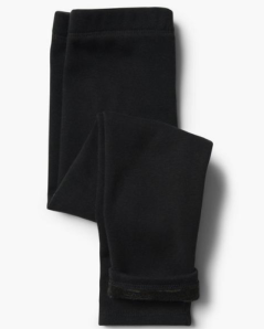 black cozy kids leggings